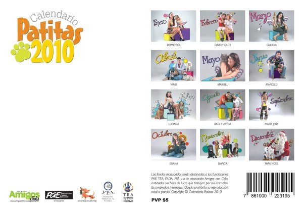 Calendario patitas 2010